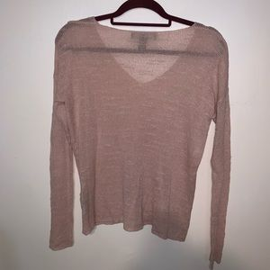 Forever 21 Tops - Forever 21 long sleeve pink sweater sz S
